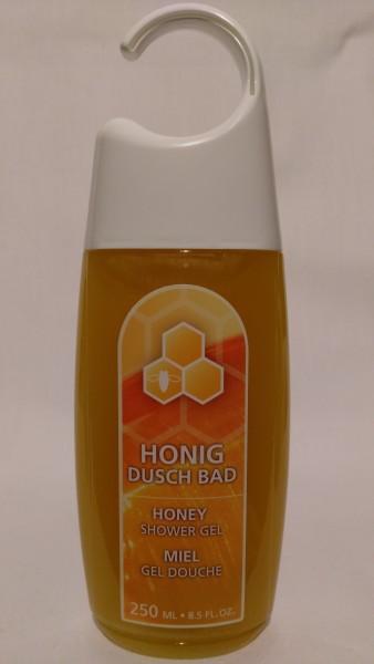 Honig Dusch Bad in der Hängeflasche